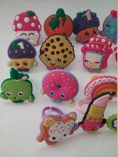 New Shopkins Rings Party Favors Cupcake Toppers 18 Pieces