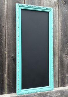 Aqua Distressed CHALKBOARD Frame Chalk Board by FrameItbyJill, $38.00