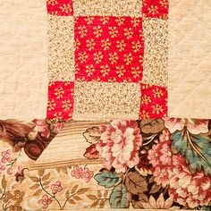 c. 1830's Dimensions: 89 1/2 in. x 86 1/2 in. (227.33 cm x 219.71 cm) Early Quilt – Scrappy Uneven 9-patch | Mingei