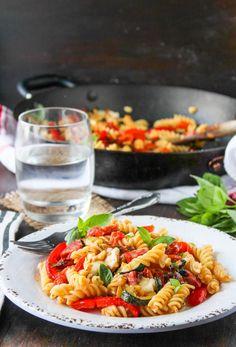 Chorizo & Roasted Veggie Pasta