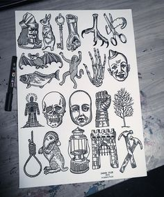 This Friday the 13th I'll be doing these designs for £13 plus £7 tip, first come first served