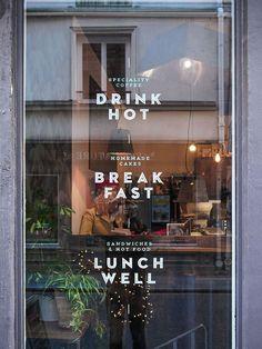 Art of the menu: matamata coffee shop signage, coffee shop