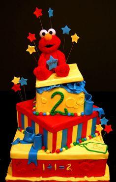 ELMO! Landon would love this cake!!!!!!!