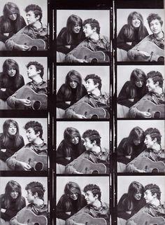 Suze Rotolo and Bob Dylan contact sheet, 1963.