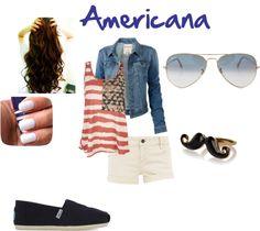 """Americana"" by rosierose-1 on Polyvore"