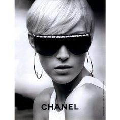 Chanel Ad Campaign Spring/Summer 2008 Shot #3 - MyFDB ❤ liked on Polyvore featuring models, people, ad campaign, anja rubik and backgrounds