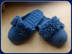 Вязание. Модели комнатных вязаных носков - тапочек - YouTube
