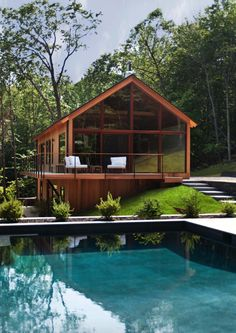 Hudson Woods is a collection of 26 dwellings designed by Lang Architecture, located in the midst of the Hudson River Valley, New York.