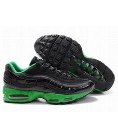 best loved 068fb 211b8 Mens Nike Air Max 95 Trainers Black Green For Wholesale