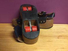 I WANT Vintage Women's Omnia'C Roller Skates Platform Sandals w Pop Wheels