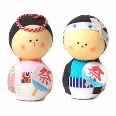 poupée japonaise okiagari doll OMATSURI