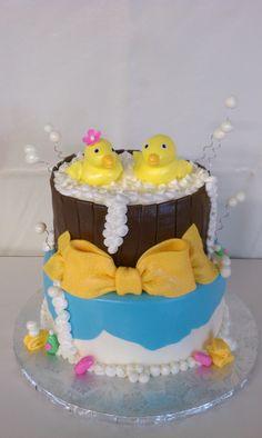 Yellow Duck Baby Shower Cake