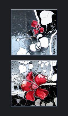 'Диви орхидеи'2- рисувано стъкло