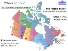 I have in-depth knowledge about the Internet landscape in Canada. I have studied the digital divide, accessibility, language in regards to the Internet from federal, provincial, municipal, business and citizen perspectives.
