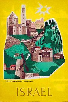 Israel | Vintage travel poster