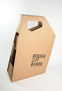Brett a Porter – a picnic box made from corrugated cardboard for the Roughcutboard, by Vienna based designer Gerlinde Gruber Corrugated Packaging, Cardboard Packaging, Paper Packaging, Bottle Packaging, Packaging Ideas, Carton Design, Picnic Box, Cardboard Design, Beverage Packaging