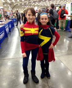 Captain Marvel and Ms. Marvel (and they're sisters!)
