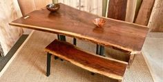 SlabArt, a business in the Ballard area of Seattle that uses salvaged wood to design artisan furniture