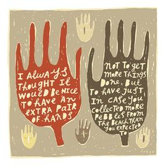 An Extra Pair Of Hands - Fine Art Print (Large)