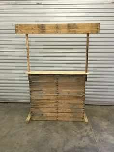 Pallet photo booth made from pallets