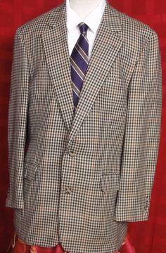 Harve' Benard Gray Striped Wool Blend 2 Button Sport Coat Size 40R ...