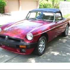 My first car. MGB convertible. Loved this car.