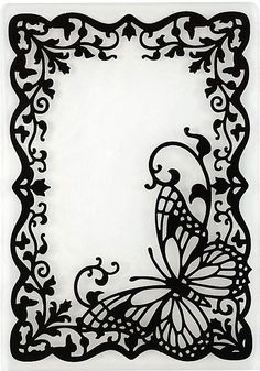 Image result for butterfly border black and white