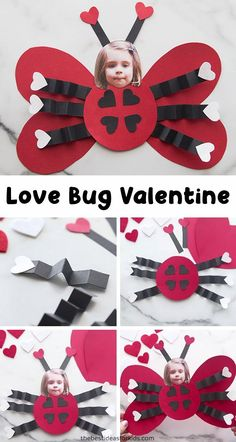 Love Bug Ladybug Valentine Craft - this is such a cute Valentine's day card or craft for kids! Love Bug Ladybug Valentine Craft - this is such a cute Valentine's day card or craft for kids! Kinder Valentines, Valentines Day Food, Valentines Day Activities, Saint Valentine, Valentine's Day Crafts For Kids, Valentine Crafts For Kids, Holiday Crafts, Valentines Crafts For Kindergarten, Craft Kids