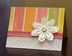 flower card made using flower from George and Basic shapes Cricut cartridge