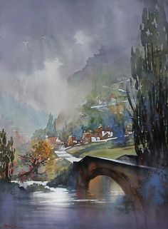 """French landscape"" (2014) By Thomas W. Schaller"