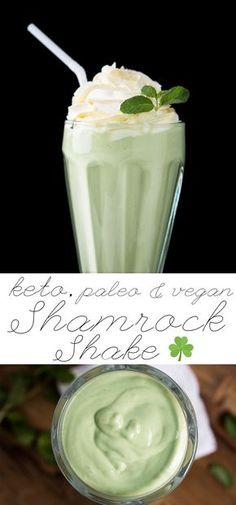 Paleo, Vegan & Keto Shamrock Shake ☘️ healthified & bulletproofed! #keto #paleo #healthyrecipes #ketodiet