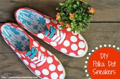 DIY Polka Dot Sneakers (a Kate Spade knock-off for cheap!) from http://yesterdayontuesday.com