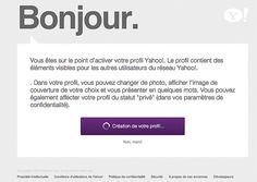 yahoo ouverture d'un compte sur Yahoo.fr