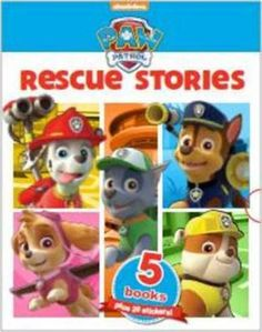 """""""Five books in a great keepsake slipcase. Comes with 20 cool stickers. Includes five stories featuring Ryder and the PAW Patrol. Paw Patrol Books, Paw Patrol Rescue, Famous Books, Cool Stickers, Childrens Books, Fictional Characters, Children's Books, Children Books, Kid Books"""