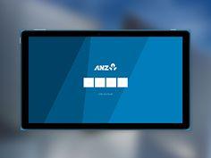 ANZ Banking Windows 8 App Concept - Login screen