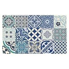 Keep homes clean and mess free with this Eclectic floor mat from Beija Flor. Made from durable vinyl which does not curl or move, this practical household item protects floors or carpet from spills, m