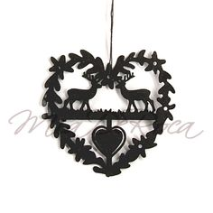 Heart with Stags Samuel - MiaDeRoca Hirsch Silhouette, Home Accessories, Interior Decorating, Ceiling Lights, Diy, Heart, Cut Paper Art, Bricolage, Home Decor Accessories
