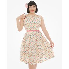 Lily Cream Cupcake Print Swing Dress