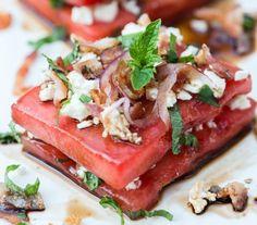 Sandwich de sandía. Emplatados de ensaladas que te van a sorprender / Salads plating.