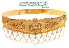 22K Gold 'Lakshmi' Vaddanam