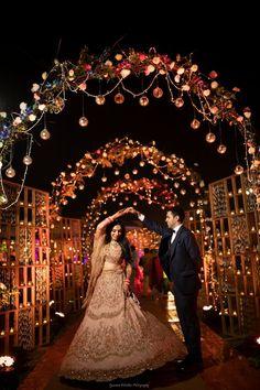 indian wedding A Dreamy Delhi Wedding With A Bride In A Bright Coral Lehenga Desi Wedding Decor, Wedding Stage Decorations, Wedding Mandap, Wedding Poses, Wedding Photoshoot, Wedding Ideas, Wedding Receptions, Wedding Dresses, Wedding Inspiration