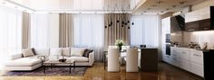 Приятная квартира - студия - Дизайн интерьеров | Идеи вашего дома | Lodgers
