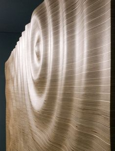 CNC milled water ripple cabinet by Architects Min|Day