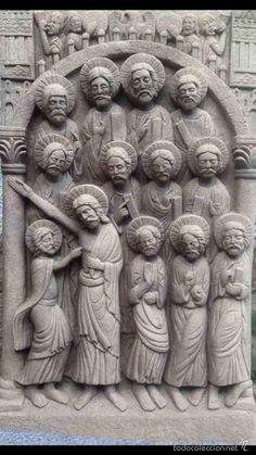 Tabla de los Apóstoles - Duda de Sto. Tomás - Reproducción - Foto 1 Orbis, Religious Art, Buddha, Statue, Altar Decorations, Sculpture, Art, Pictures, Hymn Art