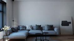 #POLIFORM grey sofa modern interiors #Skowronska www.monikaskowronska.pl