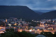 Now.....that's pretty sweet!  Cumberland MD at night.