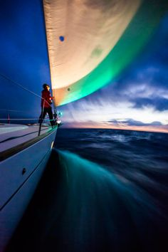 Tips for Sailing After Dark. The process of piloting in deep water is the same at night as in the daytime. Once clear of channels and buoys, it's down to GPS fixes checked against estimates, distances and courses to steer. Boating Tips, Living On A Boat, Us Sailing, Sailing Yachts, Boat Safety, Boat Stuff, Sail Away, Set Sail, Tall Ships