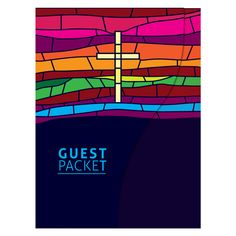 Free stained glass patterns church | Stained Glass Window Christian Folder Template (Front View)