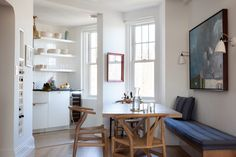 Seth Meyers and Alexi Ashe's compact New York kitchen remodeled by Ashe + Leandro, photo by Fran Parente // Remodelista