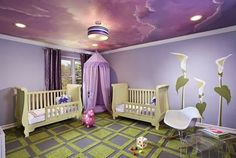 Dormitorios de bebés color lila